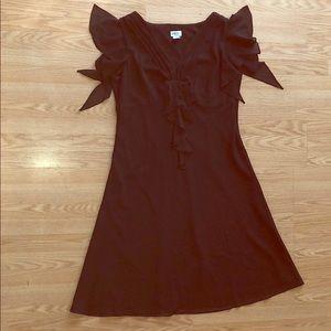 A beautiful deep brown event dress
